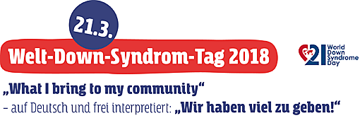2132018 Welt Down Syndrom Tag 2018 What I Bring