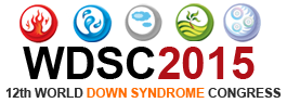 Logo World Down Syndrome Congress 2015 in Chennai, Indien